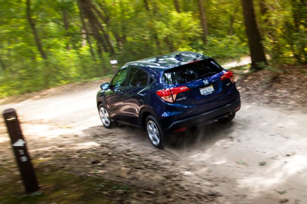 2016 Honda HR V AWD EX L Rear Three Quarter In Motion