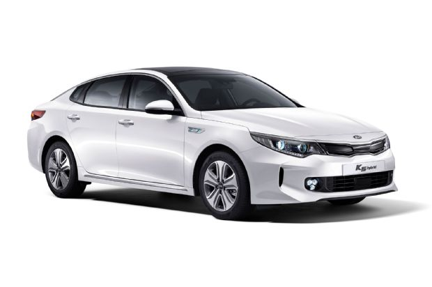 Kia Optima Hybrid Front Side View Korean Spec